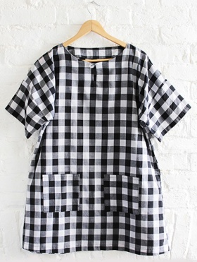 CHECKED AGNES TUNIC LR